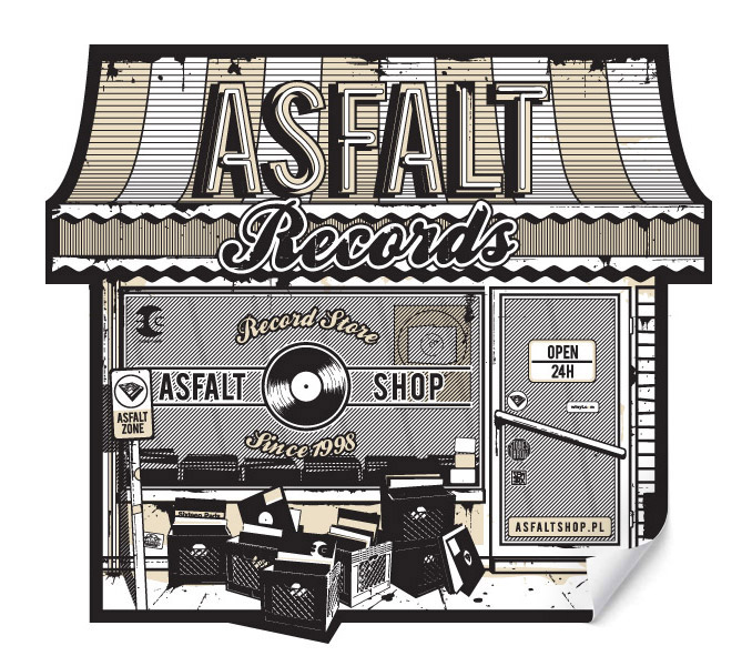 Asfalt Shop Sticker
